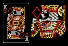 Король диамантов в неоне Стоковое фото RF