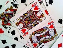 Король и ферзь покера стоковое фото