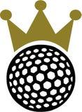 Король кроны шара для игры в гольф иллюстрация вектора