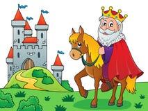 Король на изображении 4 темы лошади иллюстрация вектора