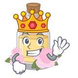 Король поднял маслом политым в бутылке мультфильма бесплатная иллюстрация