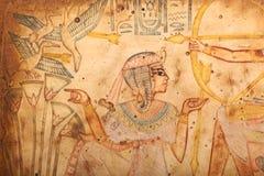 Король старого короля Египта на папирусе Стоковое Изображение RF