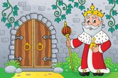 Король старым изображением 1 темы двери иллюстрация штока