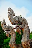 Король статуи naga в тайском виске Стоковое Изображение