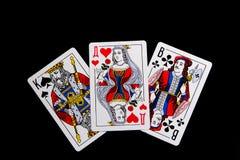 Король, ферзь и Jack Стоковые Изображения
