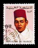 Король Хасан II (1929-1999), serie, около 1968 Стоковое Изображение RF