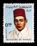 Король Хасан II (1929-1999), serie, около 1968 Стоковые Фотографии RF