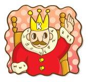 король шаржа Стоковые Фотографии RF