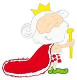 король шаржа Стоковое Изображение