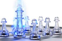 Король шахмат, руководитель и сыгранность для концепции дела Стоковое Изображение RF