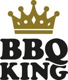 Король BBQ с кроной иллюстрация вектора