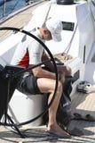 Король felipe Испании подготавливая перед регатой в вертикали mallorca Стоковое Изображение RF
