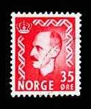 Король Haakon VII, serie, около 1956 Стоковые Изображения
