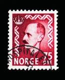 Король Haakon VII, serie, около 1957 Стоковые Изображения RF
