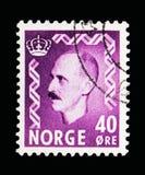 Король Haakon VII, serie, около 1955 Стоковое Изображение