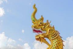 Король Nagas золота Стоковая Фотография
