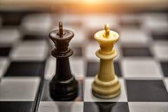 Короля шахмат - серия концепции дела - слияние Стоковые Изображения RF