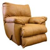 коромысло recliner стула кожаное Стоковые Изображения