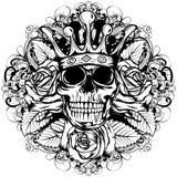 Корона черепа подняла Стоковое Изображение