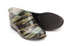 Короткая картина камуфлирования резиновых ботинок Стоковое Изображение