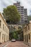 Короткая улица Adherden cul-de-sac, Сидней Австралия Стоковая Фотография RF