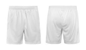Короткие белые брюки изолировали белую предпосылку стоковое изображение rf