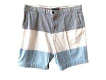 Короткие брюки, красочные, носка улицы, носка спорта на белой предпосылке Стоковая Фотография