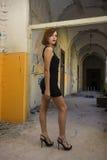 Короткое черное платье Стоковые Изображения
