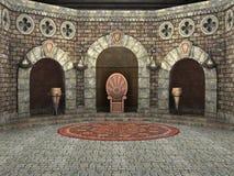 Королевская камера трона иллюстрация вектора