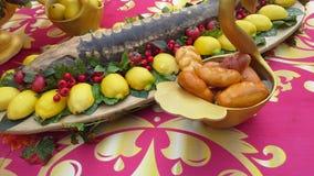 Королевская стерляжина на блюде Стоковая Фотография RF