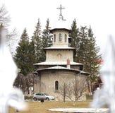 Королевская церковь от Busteni (Prahova), Румыния стоковое изображение rf