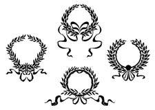 Королевские лавровые венки иллюстрация вектора