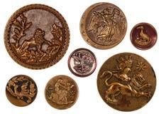 Королевские античные шить кнопки Стоковое Изображение