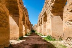 Королевские конюшни Heri es-Souani в городе Meknes - Марокко Стоковые Изображения