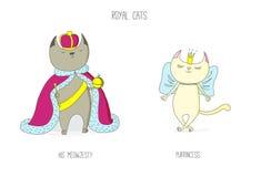 Королевские коты иллюстрация штока