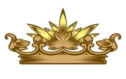 Королевский атрибут крона золотистая Стоковые Фото