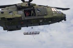 Королевский датский вертолет спасения передней части воздуха Стоковое Изображение RF