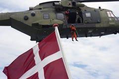 Королевский датский вертолет спасения передней части воздуха Стоковое Фото