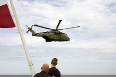 Королевский датский вертолет спасения передней части воздуха Стоковое Изображение