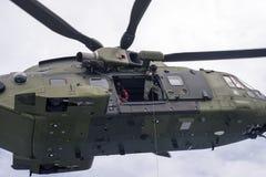 Королевский датский конец-вверх вертолета спасения передней части воздуха Стоковая Фотография