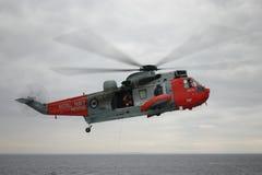 Королевский вертолет спасения военно-морского флота Стоковая Фотография