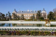 Королевский дворец Аранхуэса резиденция короля Испании стоковое фото rf