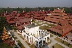 Королевский дворец в Мьянме Стоковые Изображения RF