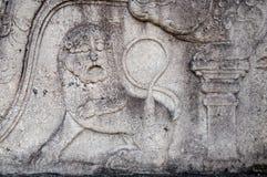 Королевский дворец города Polonnaruwa наследия короля Parakramabahu в мире Polonnaruwa - средневековая столица Шри-Ланки Стоковые Фотографии RF