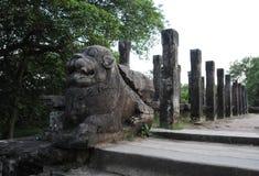 Королевский дворец города Polonnaruwa наследия короля Parakramabahu в мире Polonnaruwa - средневековая столица Шри-Ланки Стоковое Изображение