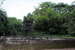Королевский дворец города Polonnaruwa наследия короля Parakramabahu в мире Polonnaruwa - средневековая столица Шри-Ланки Стоковые Изображения
