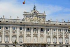 Королевский дворец Мадрида, Испании Стоковая Фотография RF