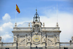 Королевский дворец Мадрида, Испании Стоковое фото RF