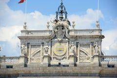 Королевский дворец Мадрида, Испании Стоковое Изображение RF