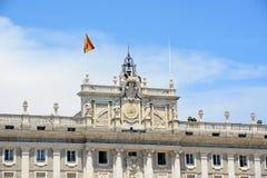 Королевский дворец Мадрида, Испании Стоковая Фотография